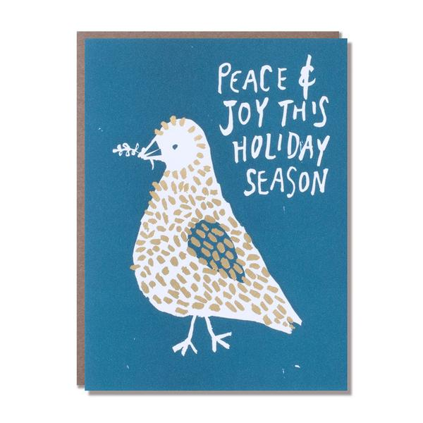 Egg Press Peace and Joy card