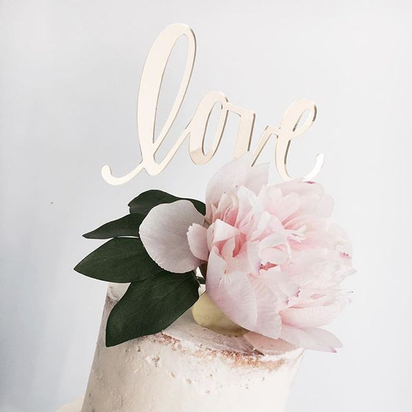 My Minds Eye Paper Goods CAKE TOPPER-LOVE