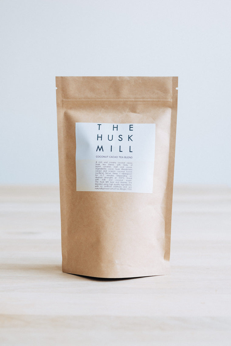 THE HUSK MILL- Coconut cacao tea blend 110g bag