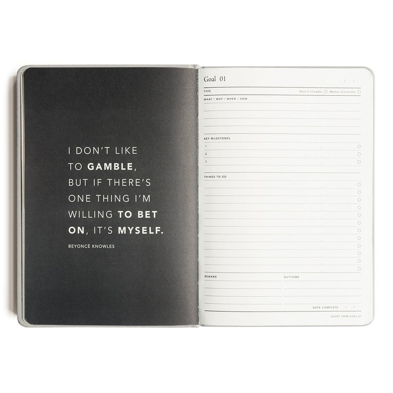 MI GOALS- 2018 Minimal diary-weekly A5 hardcover-GREY