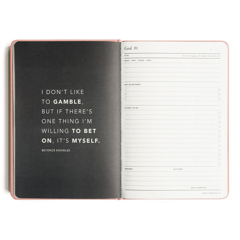 MI GOALS- 2018 Minimal diary-weekly A5 hardcover-CORAL