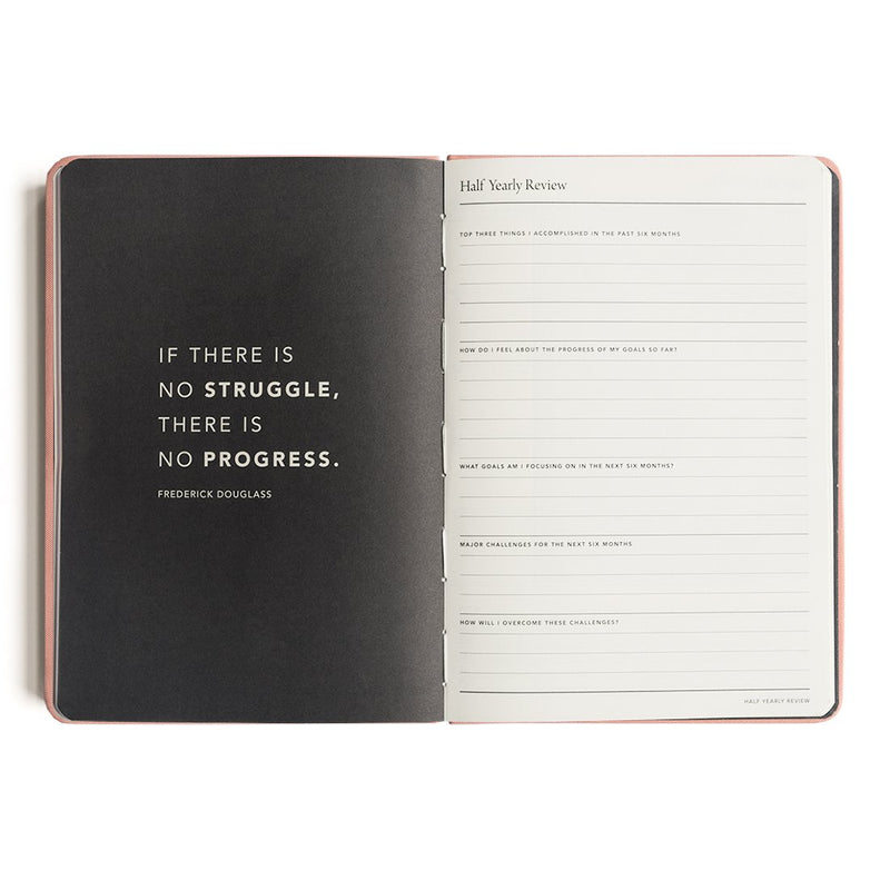 MI GOALS- 2018 Minimal diary-weekly A5 softcover-CORAL