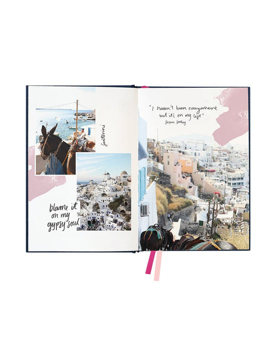 Blushing Confetti- Linen Travel Journal