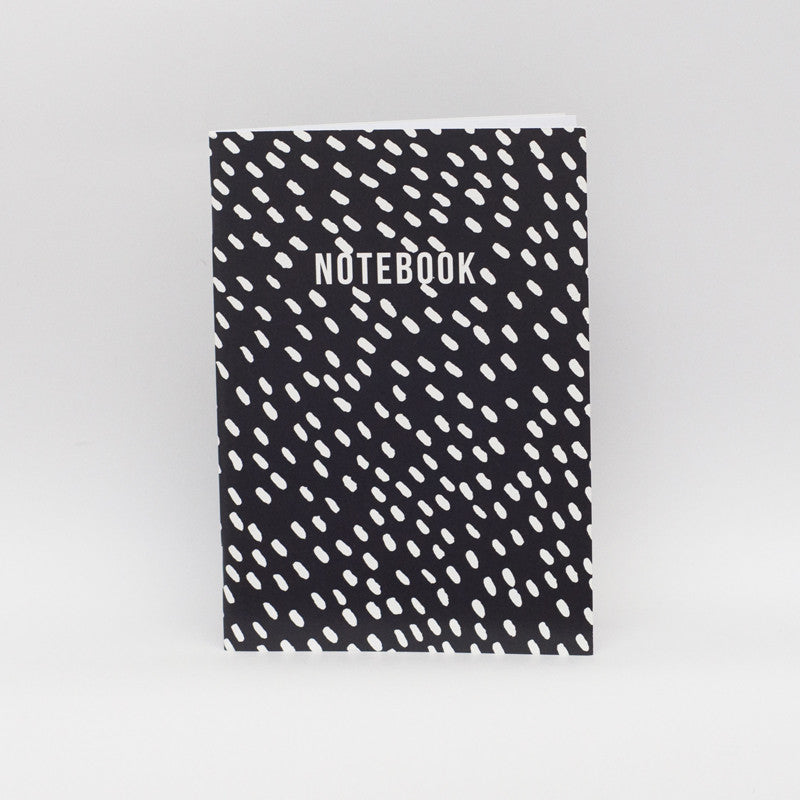 LUCKY 44 White dots/black Notebook