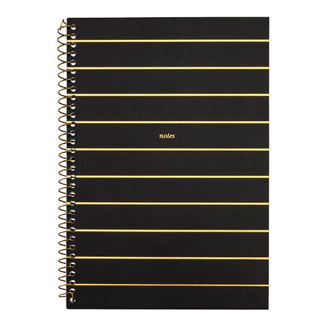 ELM PAPER-Wiro Notebook black/gold