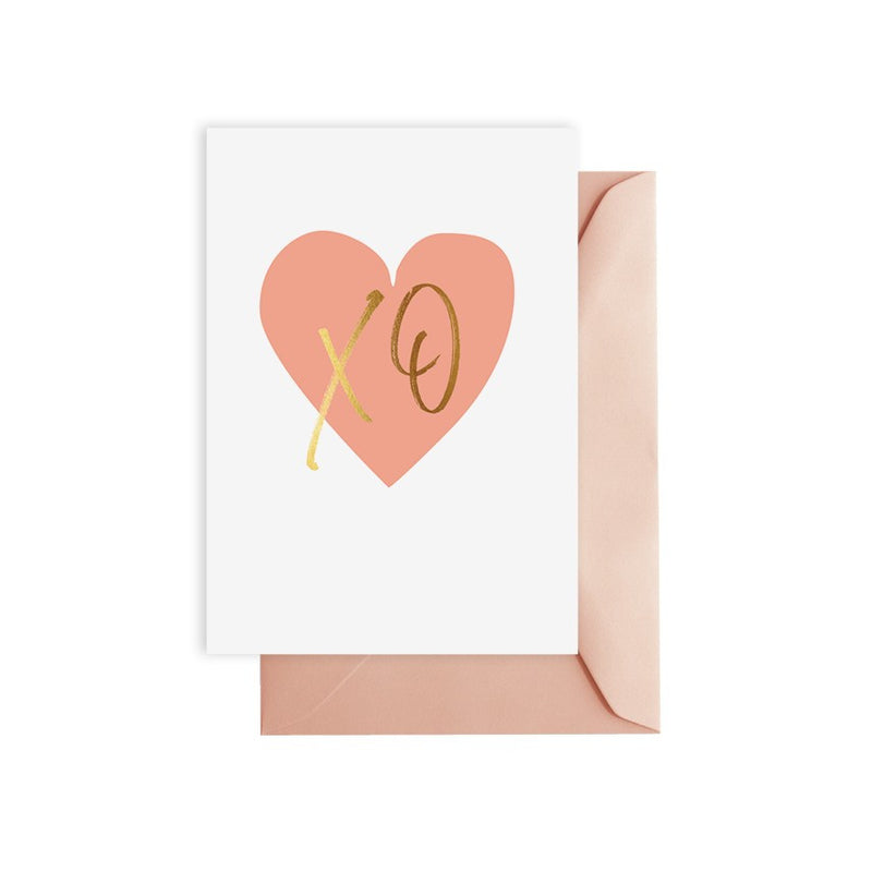 ELM PAPER-XO peach card