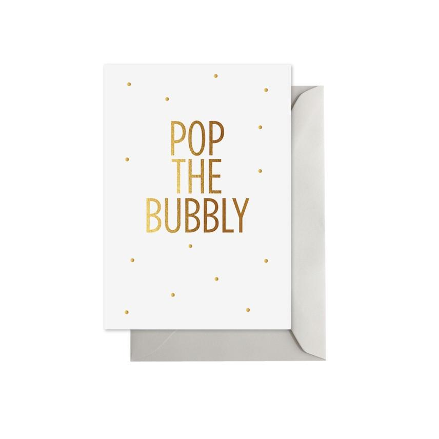 ELM PAPER-Pop the bubbly card