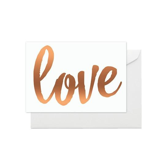 ELM PAPER-Copper Love card