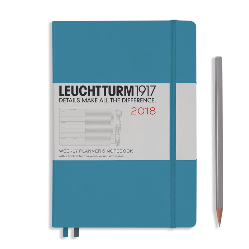 LEUCHTTURM1917-A5 Weekly planner and Notebook-Nordic Blue 2018
