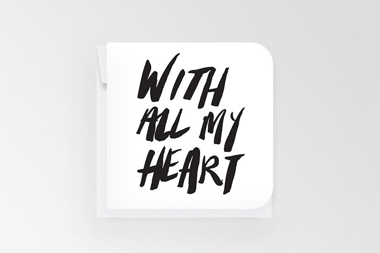 Rachel Kennedy Designs All My Heart Mini Greeting Card