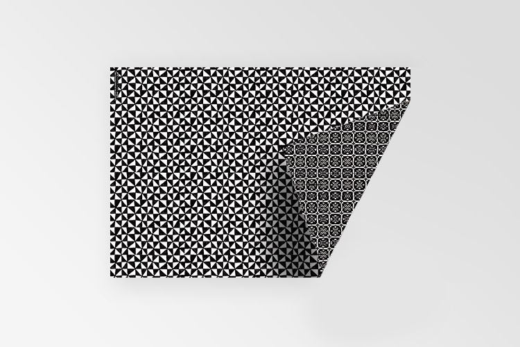 Rachel Kennedy Designs Black and white double sided 100% recycled gift wrap