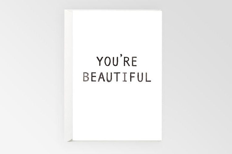 Rachel Kennedy Designs Greeting Card-You're Beautiful