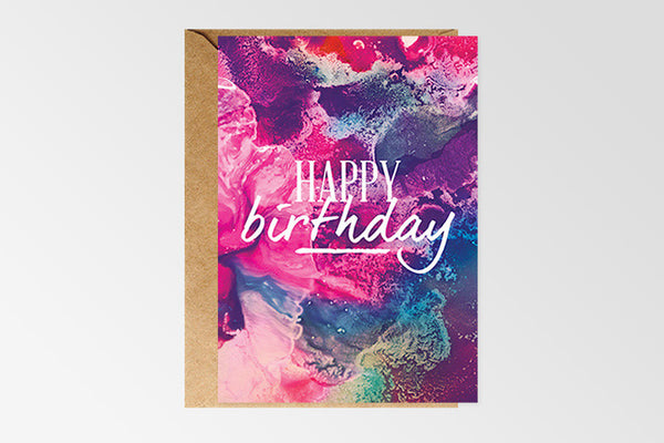 Rachel Kennedy Designs Happy Birthday#8 Greeting Card