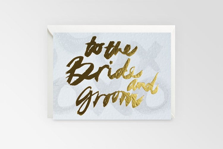 Rachel Kennedy Designs To The Bride & Groom Greeting Card