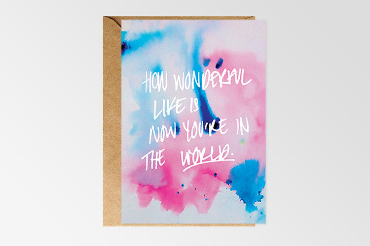 Rachel Kennedy Designs Happy How Wonderful Life Is Greeting Card