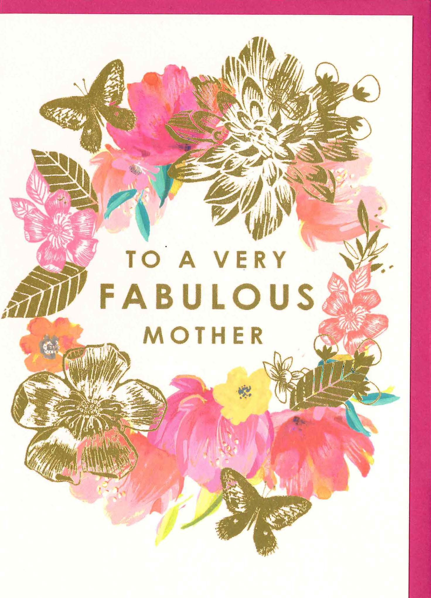 LOUISE TILER-card-Gold florals MOTHER