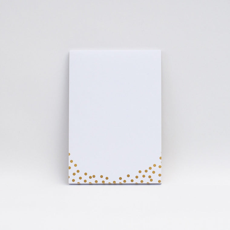 LUCKY 44 Gold Foil Polka Dot  Notepad