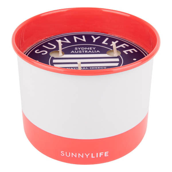 SUNNYLIFE Citronella Candle Large-Coral