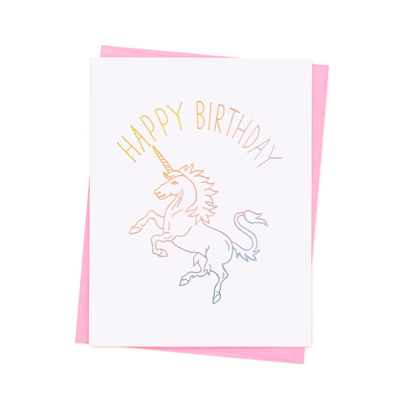 Ashkahn Card - Happy B'day Unicorn