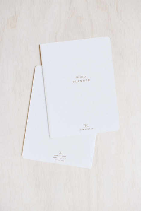 APPOINTED- UNDATED MONTHLY PLANNER - LARGE - SOFT COVER - WHITE