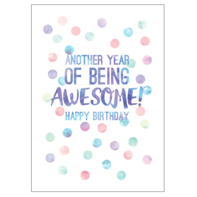 CANDLEBARK Another Year of Awesome card