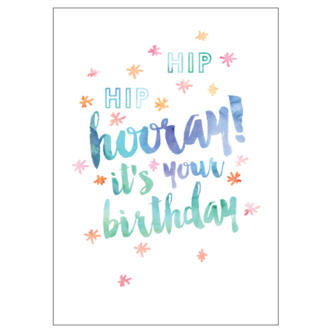 CANDLEBARK Watercolour Hooray card
