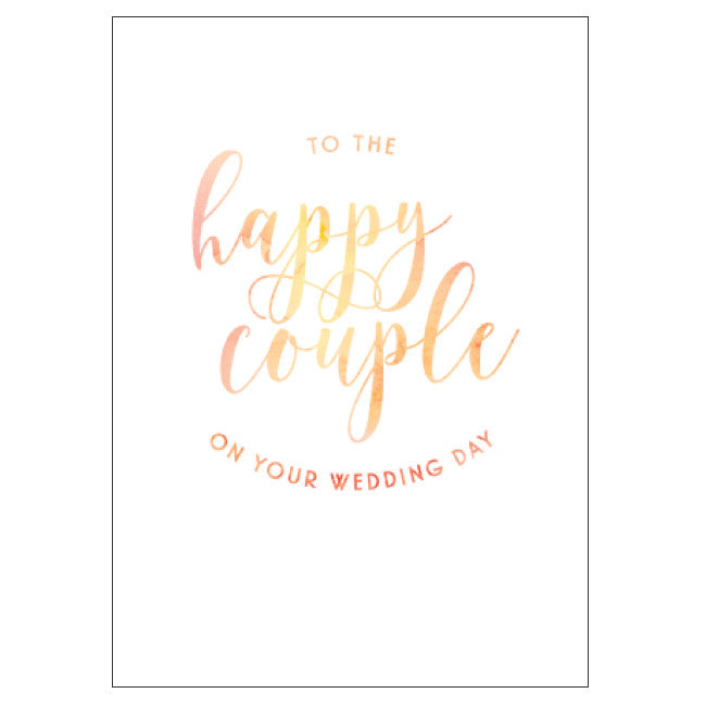 CANDLEBARK To the Happy Couple card
