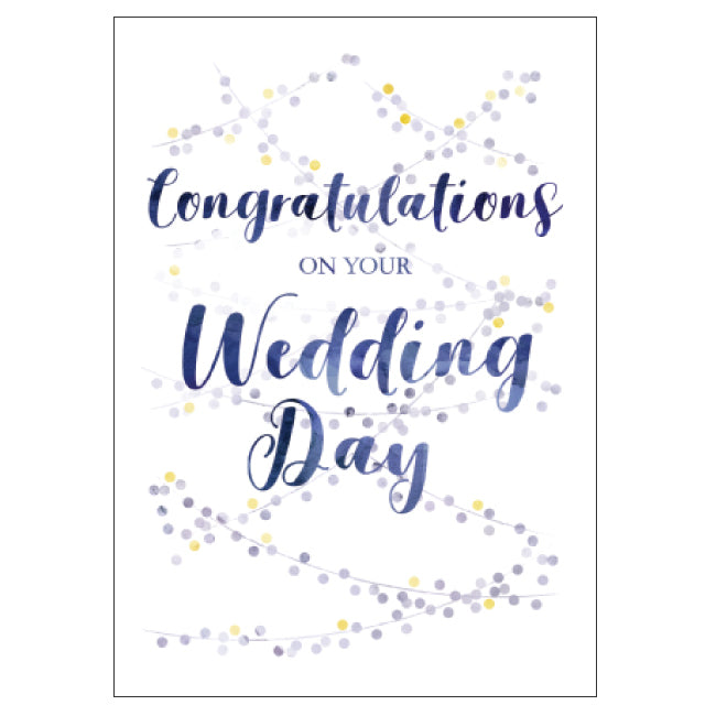 CANDLEBARK Wedding day card