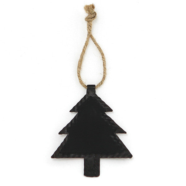 DOWN TO THE WOODS Chalkboard Xmas tree decoration