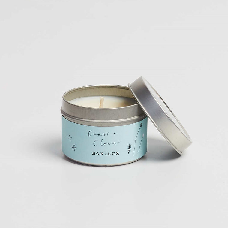 BON LUX-Grass + Clover Travel tin candle