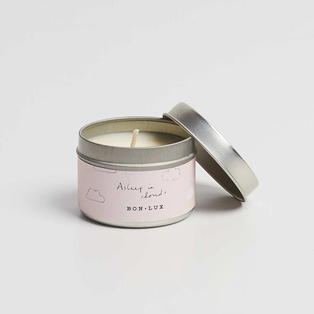 BON LUX-Asleep in the clouds Travel tin candle