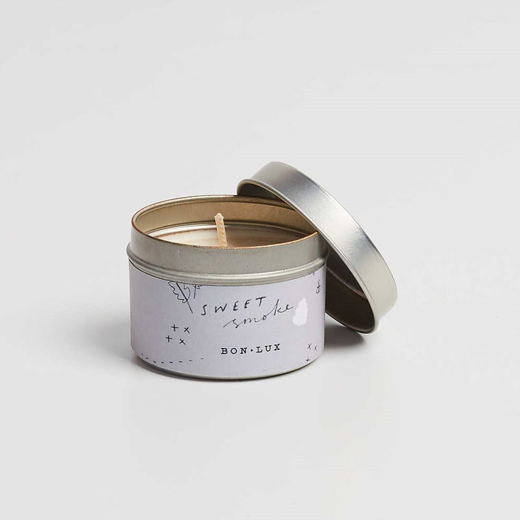 BON LUX-Sweet Smoke Travel tin candle