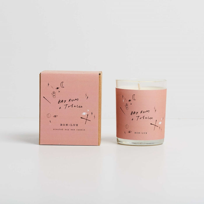 BON LUX- Bay Rum + Tobacco candle