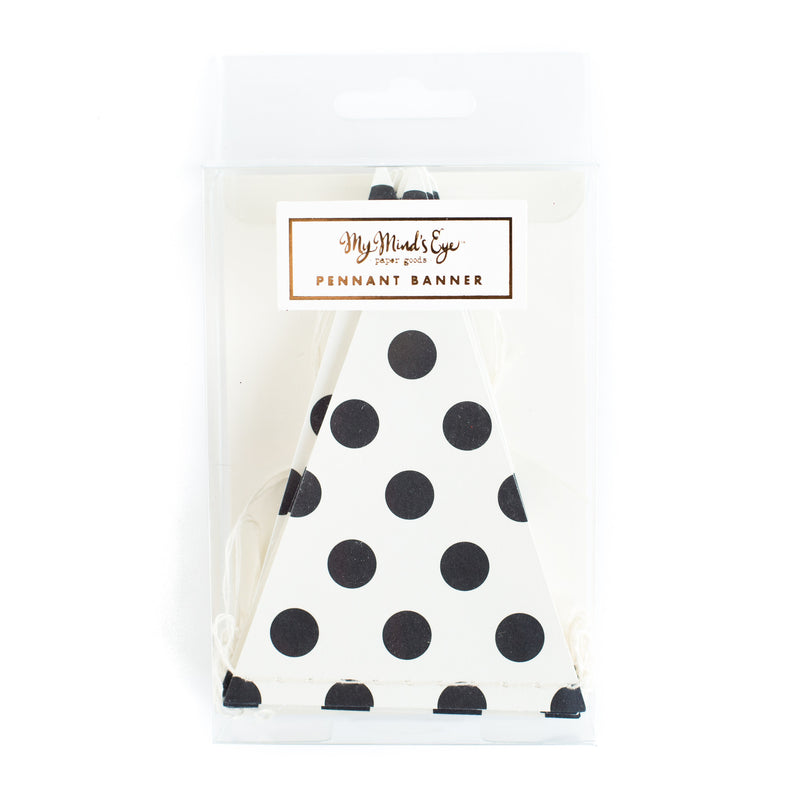 My Minds Eye Paper goods BLACK & WHITE DOT PENNANT BANNER