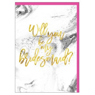 CANDLEBARK Be my bridesmaid card