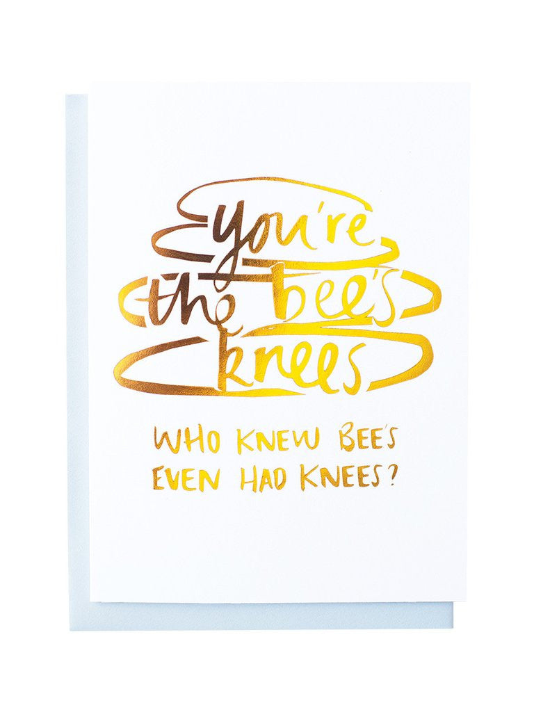 Blushing confetti Bee's Knees card