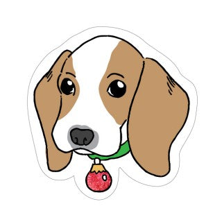 CANDLEBARK Bernie the beagle Greeting tag set of 5