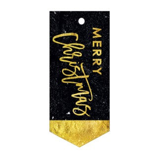 CANDLEBARK Black and gold Greeting tag set of 5