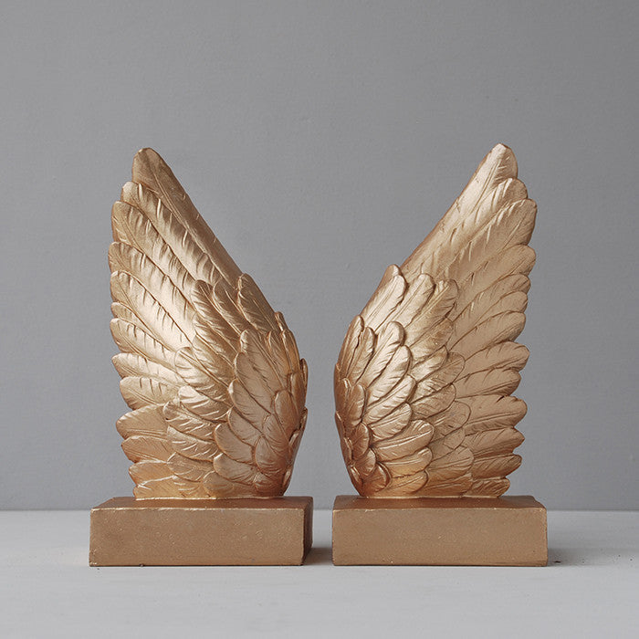 WHITEMOOSE Wing Bookends -Gold