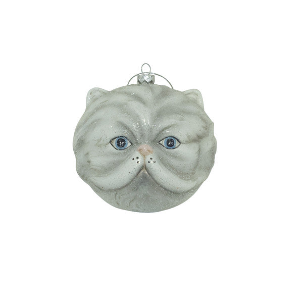 DOWN TO THE WOODS Glitter Grey Cat decoration