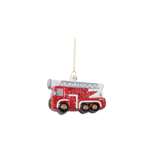 DOWN TO THE WOODS Firetruck Truck Decoration