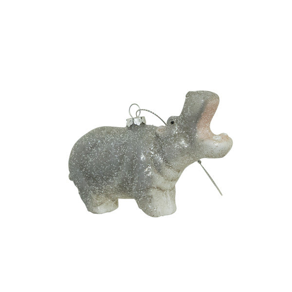 DOWN TO THE WOODS Wild Glitter Hippo decoration