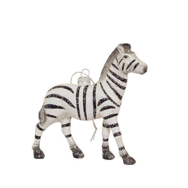 DOWN TO THE WOODS Wild Glitter Zebra decoration