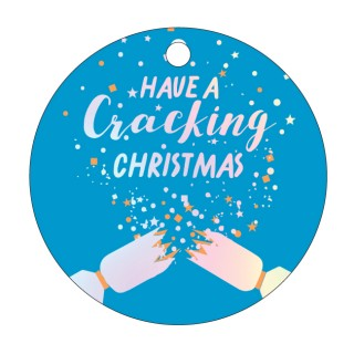 CANDLEBARK Cracking Christmas Greeting tag set of 10