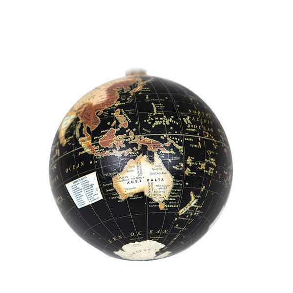 DOWN TO THE WOODS World Globe decoration-Black