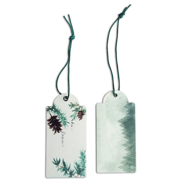 DOWN TO THE WOODS Nature swing tag-Pine cones