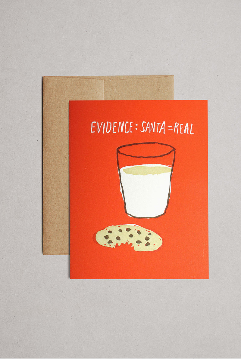 EGG PRESS- Greeting card- Cookies and Milk Holiday