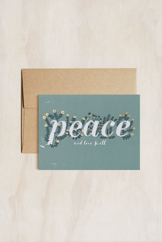 EGG PRESS- Greeting card- Berry Peace