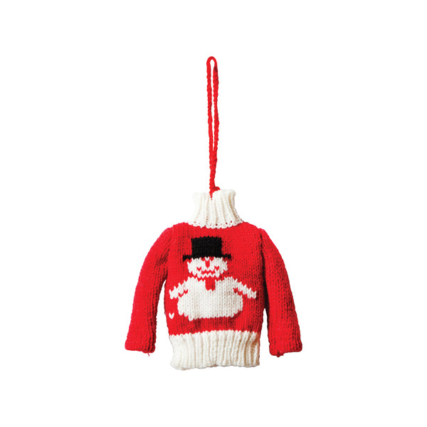 DOWN TO THE WOODS Ugly Sweater Snowman