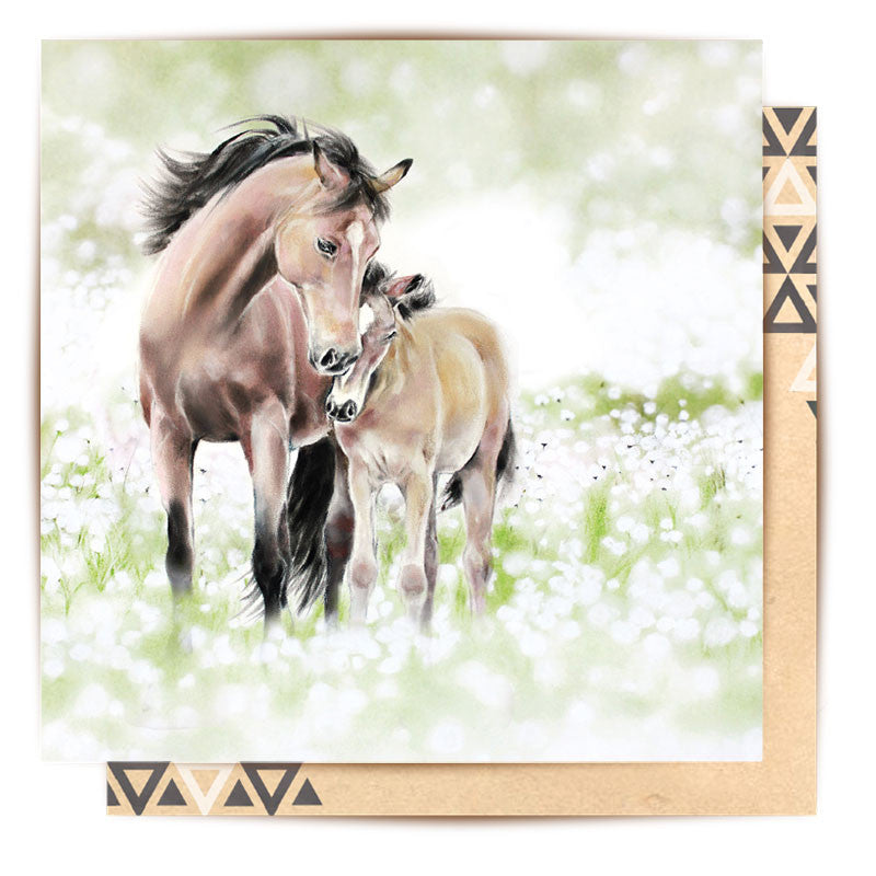 LA LA LAND-Horse And Foal card